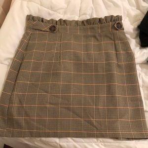 topshop checkered mini skirt
